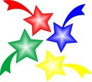Estrellas con las colas Imagen de archivo libre de regalías