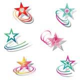 Estrellas. Conjunto de elementos del diseño. Foto de archivo