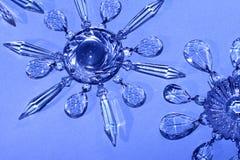 Estrellas cristalinas, copos de nieve Imagen de archivo libre de regalías