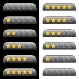 Estrellas de clasificación para el web Foto de archivo libre de regalías