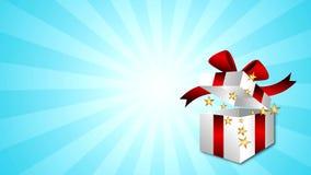 Estrellas de la caja de regalo almacen de metraje de vídeo