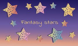 Estrellas de la fantas?a stock de ilustración