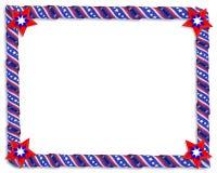 Estrellas de la frontera y cintas patrióticas de las rayas Foto de archivo libre de regalías
