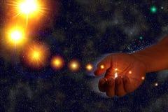 Estrellas de la iluminación Fotos de archivo libres de regalías