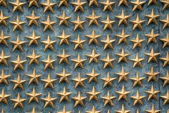 Estrellas de la libertad en la pared en el monumento de la Segunda Guerra Mundial en Washington DC fotografía de archivo libre de regalías
