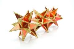 Estrellas de la Navidad fotos de archivo