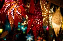 Estrellas de la Navidad Foto de archivo libre de regalías