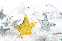 Estrellas de la Navidad del oro Imagen de archivo