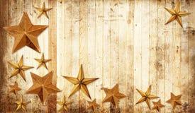 Estrellas de la Navidad del país imagenes de archivo