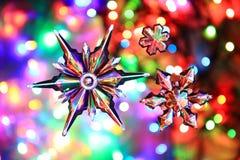 Estrellas de la nieve como fondo agradable de la Navidad Imágenes de archivo libres de regalías