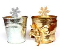 Estrellas de la plata y del oro Foto de archivo libre de regalías
