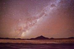 Estrellas de la vía láctea foto de archivo