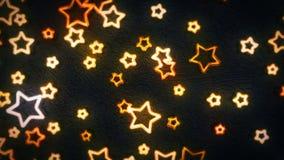 Estrellas de las luces de neón que se giran y que oscilan ilustración del vector