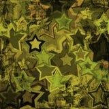Estrellas de los militares del Grunge Foto de archivo