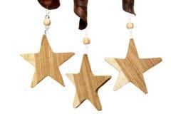 Estrellas de madera Fotografía de archivo