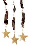 Estrellas de madera Imagenes de archivo