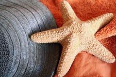 Estrellas de mar en la toalla Imagen de archivo