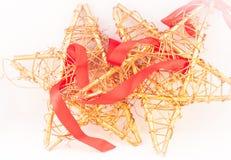 Estrellas de mimbre de la Navidad foto de archivo