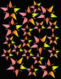 Estrellas de neón que estallan en un diseño abstracto stock de ilustración
