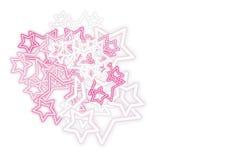 Estrellas de neón (vector) Foto de archivo libre de regalías
