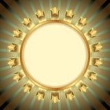 Estrellas de oro Foto de archivo libre de regalías