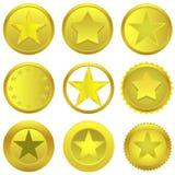 Estrellas de oro Fotografía de archivo