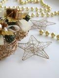 Estrellas de oro Imágenes de archivo libres de regalías