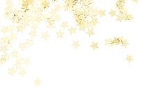Estrellas de oro aisladas Fotos de archivo