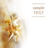 Estrellas de oro de la Navidad foto de archivo libre de regalías