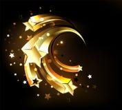Estrellas de oro rápidas del oro de las estrellas libre illustration