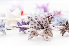 Estrellas de papel de la Navidad Foto de archivo