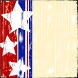 Estrellas de Patriatic en la madera Imágenes de archivo libres de regalías
