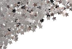 Estrellas de plata Fotografía de archivo