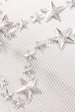 Estrellas de plata Fotografía de archivo libre de regalías