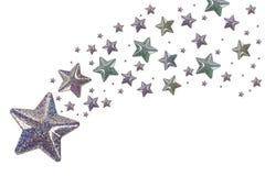 Estrellas de plata Foto de archivo libre de regalías