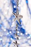Estrellas de plata Imagen de archivo libre de regalías