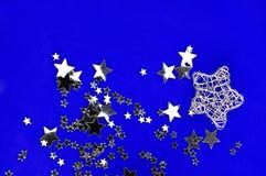 Estrellas de plata Imágenes de archivo libres de regalías
