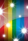 Estrellas de Raibow Foto de archivo