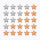 Estrellas de Shiiny Foto de archivo libre de regalías
