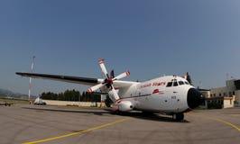 Estrellas de Turkisch - aeropuerto Sliac de Slovac Fotos de archivo libres de regalías