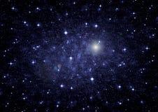 Estrellas de un planeta y de una galaxia en un espacio libre Imágenes de archivo libres de regalías