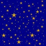 Estrellas de Yellor en azul marino fotos de archivo