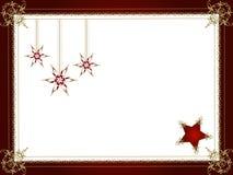 Estrellas decorativas de la Navidad Fotos de archivo libres de regalías