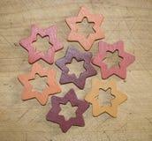 Estrellas decorativas de la Navidad Imagenes de archivo