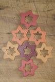 Estrellas decorativas de la Navidad Foto de archivo