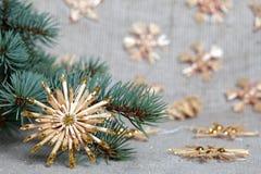 Estrellas decorativas de la Navidad Imágenes de archivo libres de regalías