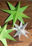 Estrellas decorativas de la Navidad Foto de archivo libre de regalías