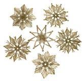 Estrellas decorativas de la paja de la Navidad Fotografía de archivo libre de regalías