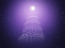 Estrellas del árbol de navidad Fotografía de archivo libre de regalías