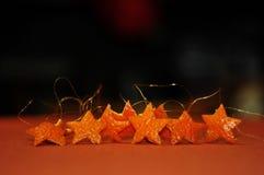 Estrellas del Año Nuevo Fotografía de archivo